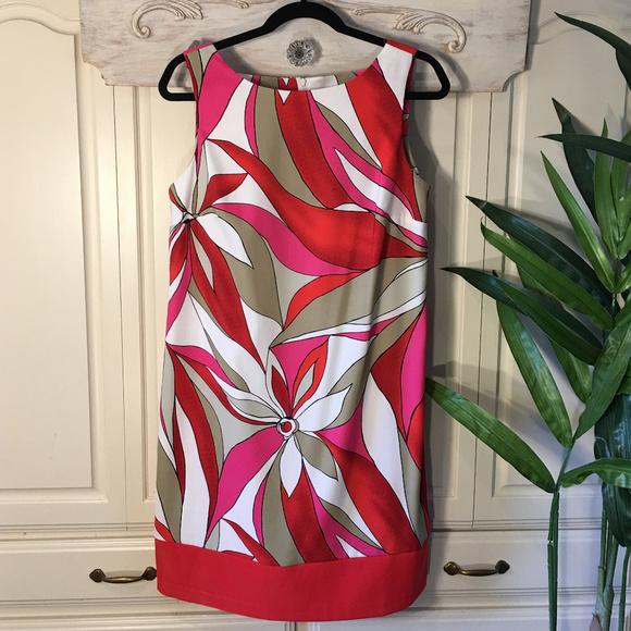 AB Studio Dresses & Skirts - AB Studio Cocktail Printed Sleeveless Dress, Sz 12